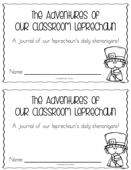 Classroom Leprechaun Journal- St. Patrick's Day Fun