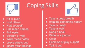 Coping Skills Classroom Lesson! (ASCA Mindsets & Behaviors included)