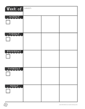 Classroom Lesson Plan Book - BW Collection