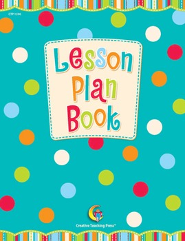Classroom Lesson Plan Book - Dots on Turquoise