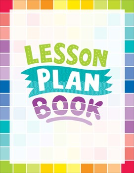 Classroom Lesson Plan Book - Painted Palette