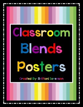 Classroom Letter Blends Posters / Visual Aides / Flash Cards