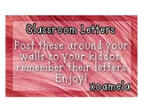 Classroom Letters!