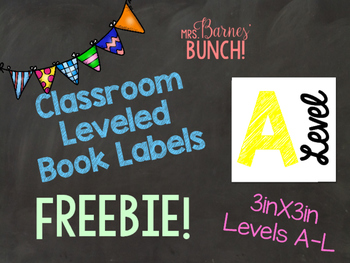 Classroom Leveled Book Labels FREEBIE!
