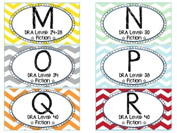 Classroom Leveled Library Labels DRA and Guided Reading Levels