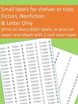 Classroom Leveled Library Labels with Matching Individual Book Labels {Editable}