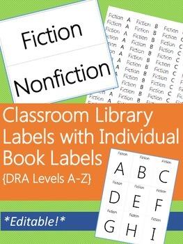 Classroom Leveled Library Labels with Matching Individual