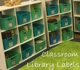 Classroom Libary Genre Labels for the books