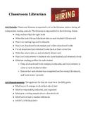 Classroom Librarian Application
