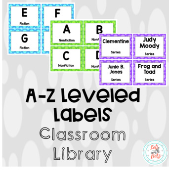 A-to-Z Leveled Classroom Library Labels