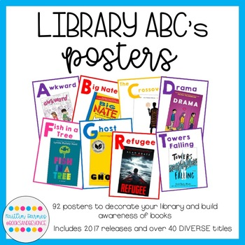Classroom Library ABC Posters/Decor (92 posters included!)