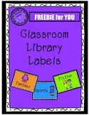 Classroom Library Basket Labels