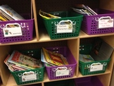 Classroom Library Basket and Book Labels