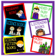 Classroom Library Basket/Bin Labels White/Black Rainbow Se