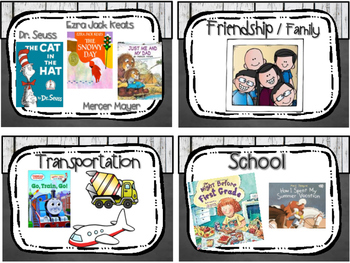 Classroom Library Bin Book Labels