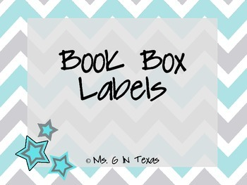 Classroom Library Labels- Blue