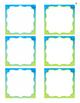 Aqua Classroom Library Bin Labels EDITABLE