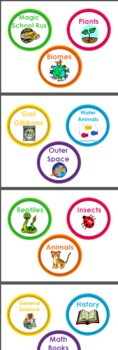 Classroom Library Bin and Book Labels