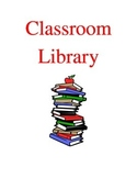 Classroom Library Binder Cover