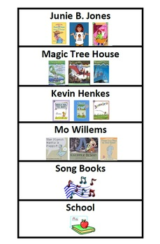Classroom Library Book Basket Label System