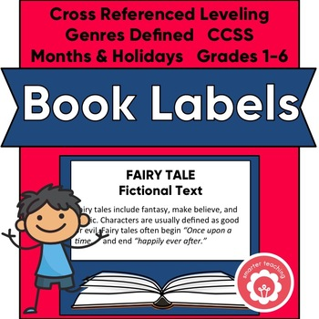 Classroom Library Book Basket Labels (Navy Blue)