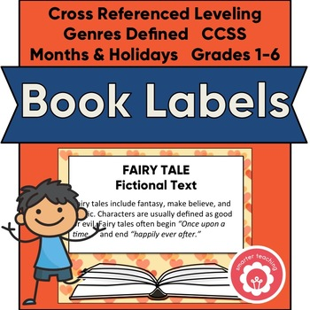Classroom Library Book Basket Labels (Orange And Yellow Hearts)