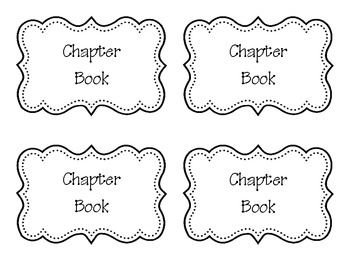 Classroom Library Book Basket Labels Back to School