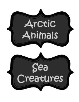 Classroom Library Book Basket Labels - Chalboard Theme
