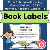 Book Basket Labels (Green, Blue, And Gray Dot)