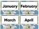 Classroom Library Book Basket Labels (Green Blue And Gray Dot)