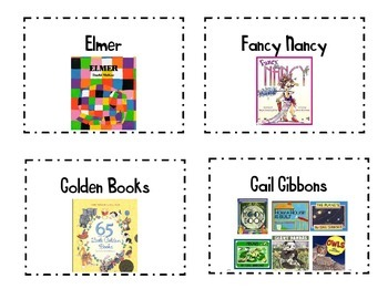 Classroom Library Book Basket Labels Set 1