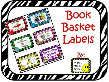 Classroom Library Book Basket Labels (Variety Pack)