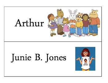 Classroom Library Book Basket Labels by Theme