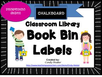 Classroom Library Book Bin / Basket Labels for Intermediat