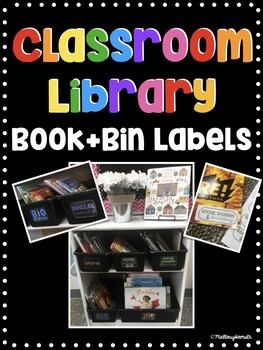 Editable Classroom Library Book & Bin Labels