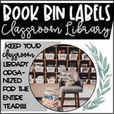 Classroom Library || Book Bin Labels