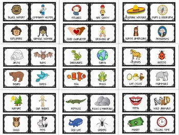 Classroom Library Labels - Black and White Polka Dot Book Bin Labels