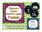 Classroom Library Book Bin Labels Freebie