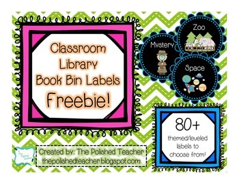 Classroom Library Book Bin Labels Freebie