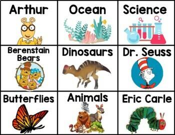Classroom Library Book Bin Labels - Growing Resource!