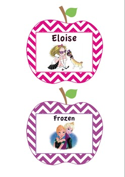 Classroom Library Book Bin Labels - Sample