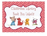 Classroom Library Book Bin Labels for Primary Grades