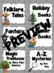 Classroom Library Book Bin Labels (intermediate grades)