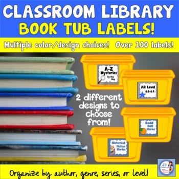 Classroom Library Book Bin Labels (intermediate grades)