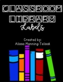 Classroom Library Book Bin Labels (with Editable Slides)