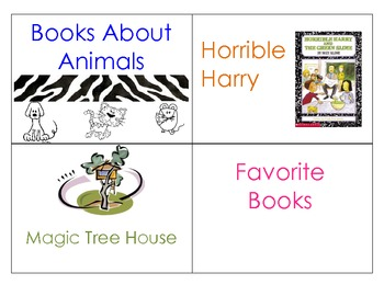 Classroom Library Book Bin Plates/ Labels