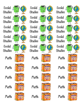 Classroom Library Book Bin STICKERS- SET 1 {Corresponds w/Library Labels}