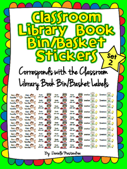 Classroom Library Book Bin STICKERS- SET 2 {Corresponds w/Library Labels}