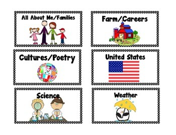 Classroom Library Book Bin or Basket Labels