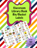 Classroom Library Book Bin/Basket Labels